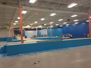 The owners of the Sky Zone hope to get the Kalamazoo park open by Nov. 14, utilizing space that was once a Builders Square home improvement center.