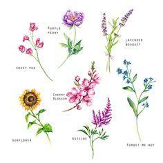 Flower Temporary Tattoos Set of flower tattoos,peony, sunflower,cherry blossom ,forget me not tat Birth Flower Tattoos, Small Flower Tattoos, Flower Tattoo Designs, Small Tattoos, Flower Bouquet Tattoo, Delicate Flower Tattoo, Peony Flower Tattoos, Sunflower Tattoos, Sweet Pea Tattoo