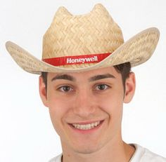 cdb86cc1fcc Straw cowboy hat with printed band. Natural color. Assorted sizes only.  Packed 50