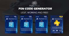 New generator for the Playstation Network! Secret reveal about Playstation Store and Playstation Plus cards