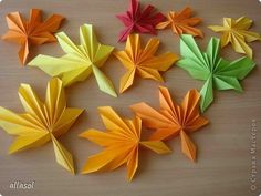 Origami maple leaf - perfect for autumn displays!