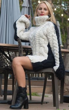Thick Sweaters, Girls Sweaters, Sweaters For Women, Women's Sweaters, Wedding Jacket, Knit Dress, Turtleneck Dress, Mohair Sweater, Sweater Outfits