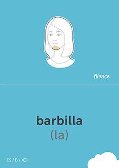 Barbilla #CardFly #flience #human #spanish #education #flashcard #language