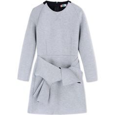 Msgm Short Dress (1.885 RON) ❤ liked on Polyvore featuring dresses, grey, zipper mini dress, grey mini dress, msgm, zipper dress and mini dress