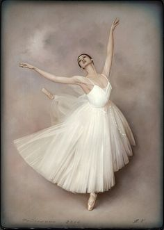 "Fedoskino Russian Lacquer box Лаковая миниатюра Title: ""Ballet Dancer"" Artist: Kriger Alexander"