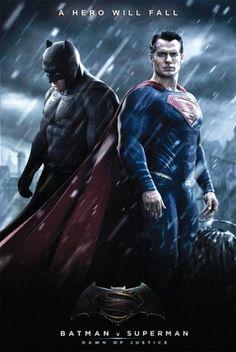Batman Vs Superman Poster, Superman Movies, Superman Dawn Of Justice, Dc Comics Superheroes, Marvel Dc Comics, Action Movies, Hd Movies, Movie Posters, Hero Arts