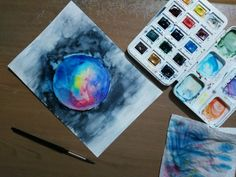 Gezegenimiz. #watercolor #space #planet