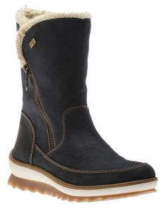These cozy winter boots feature a soft synthetic leather upper with a round toe for a comfortable fit. Inside, a cozy lamb's wool lining is enhanced with TEX, a water repell Winter Boots, Ugg Boots, Uggs, Pilot, Leather, Shoes, Style, Fashion, Ugg Slippers
