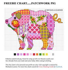 FREEBIE CHART.... It's a Patchwork Pig!!