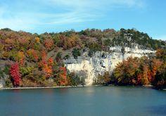 Fall Color, Ha Ha Tonka cliffs, Lake of the Ozarks, Missouri