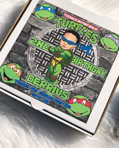 """Spriinkle Me Piink🌸🌺 on Instagram: """"Ninja Turtle Pizza Box Favor boxes! Add an extra spin on your Ninja Turtle Party! #ninjaturtle #ninjaturtleparty #ninjaturtlebirthday"""" Ninja Turtle Party, Ninja Turtles, Favor Boxes, Spin, Pizza, Birthday, Instagram, Tortoise, Birthdays"""