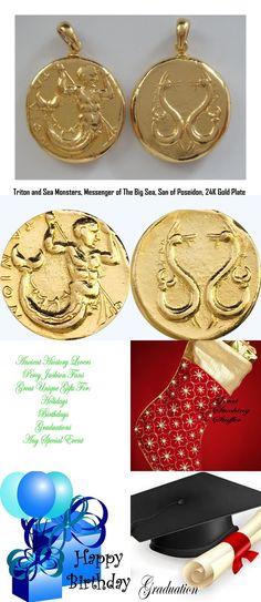 TRITON Percy Jackson Necklace 14-G Son of Poseidon Pendant and Chain