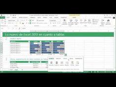 Lo nuevo de Excel 2013 en cuanto a tablas