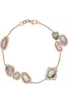 Kimberly McDonald 18-karat rose gold, opal and diamond bracelet | NET-A-PORTER
