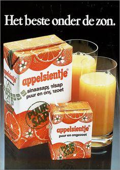 Appelsientje: 80's orange juice package