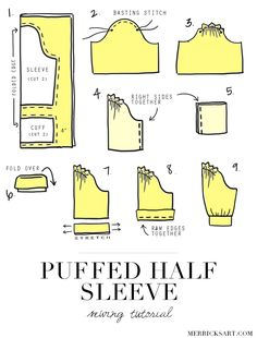 Merrick's Art // Style + Sewing for the Everyday Girl: DIY FRIDAY: PUFFED HALF SLEEVE TUTORIAL