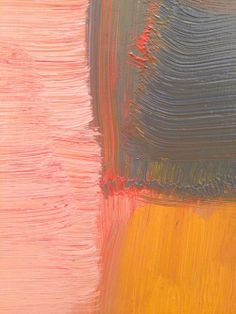 Sean Scully up close - painterly - from afar the geometric shapes might look very precise but up close you can see that it is more about how the paint has been applied than the preciseness of the line that the paint creates