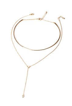 Lariat Necklace and Choker Set | FOREVER21 - 1000079012