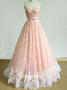 Modern Tulle Sweetheart Neckline Floor-length Wedding Dress WD040 - BohoProm