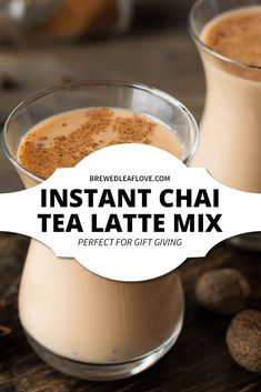 This instant chai tea latte mix recipe tastes just like the chai tea from your favorite coffee shop. Just add hot water to a scoop of dry mix! It's delicious and makes great holiday gifts too!