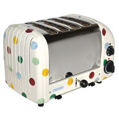 Polka Dot 4 Slice Toaster.