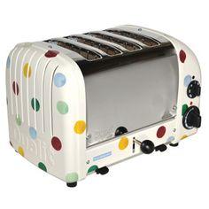 Polka Dot 4 Slice Toaster.