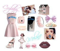 """Melanie Martinez"" by serenasstyle ❤ liked on Polyvore featuring RED Valentino, Chicwish, Lime Crime, Dollhouse, Streets Ahead, ZeroUV and Fujifilm"