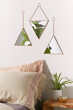 Shop Triangle Mirror Set at Urban Outfitters today. We carry all the latest styles, colors and brands for you to choose from right here. Pouf Rose, Triangle Mirror, Mirrors Urban Outfitters, Motif Tropical, Tropical Decor, Bouclair, Tumblr Rooms, Scandinavian Bedroom, Industrial Scandinavian