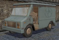 ModTheSims - Grungy Delivery Truck Replacement (+ recolor for F-Ps drivable version) Sims 2, Post Apocalyptic, Decay, Ps, Delivery, Trucks, Vehicles, Truck, Car