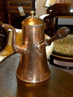 Copper:  18th Century #Copper Chocolate Pot.