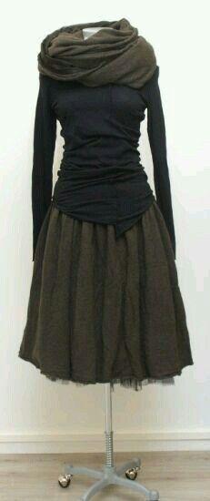 Stylish: skirt and shirt from Rundholz . - Stylish: skirt and shirt from Rundholz Mehr - Looks Style, Style Me, Boho Style, Estilo Hippie, Mode Plus, Inspiration Mode, Moda Fashion, Fashion 2015, Vogue Fashion
