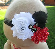 Minnie Mouse Headband by 3DarlingsDesigns on Etsy, $12.00
