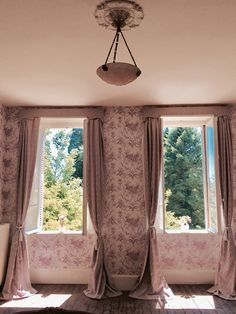 Drapery Panels, Interior Design Inspiration, Window Treatments, Stationary, Blinds, Windows, Curtains, Normandy, Rose