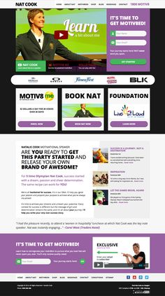 Nat Cook motivational speaker - website