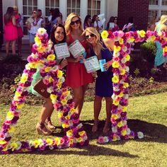 Delta Gamma at University of Alabama #DeltaGamma #DG #BidDay #letters #sorority #Alabama