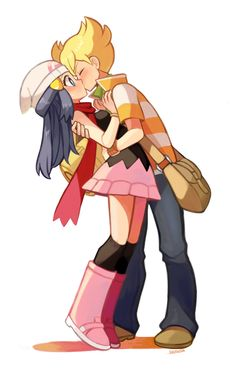Twinleafshipping. D'aww, one of my favorite ships. :)