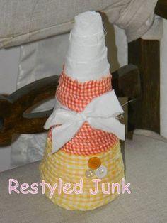 Foam Cone Candy Corn Tutorial