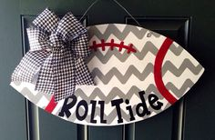 Alabama Chevron Football Door Hanger on Etsy, $35.00
