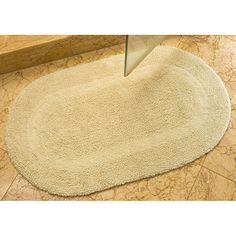 Safavieh Spa Collection Cream Reversible 2400-Gram Bath Mats