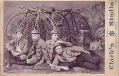 CABINET CARD PHOTO w/ LOTS OF HIGH WHEEL PENNY FARTHING BICYCLES & RIDERS CLUB | Collectibles, Photographic Images, Vintage & Antique (Pre-1940) | eBay!