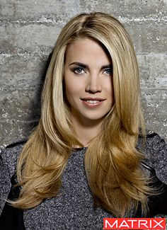 Final pre-baby hair cut. My hair is approximately this length right now. Love the long layer and deepish side part