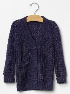 LINK : https://yroo.com/af/1446520/ruid/21327 Gap Baby Festive Sparkle Waffle Knit Cardigan Size 2 YRS - new navy | 20% OFF