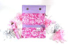 Female Wallets, Trifold Wallets, Ladies Wallets, Fabric Wallet, Wristlet Purse, Clutch Wallets, Stylish Wallets, Women's Wallet - pinned by pin4etsy.com #etsy #handmade #wallet #handbag #shopping #sale #ladies #pink