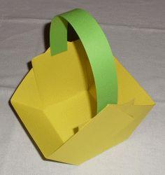 Osternest Körbchen aus Karton basteln.
