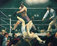 George Bellows, Boxing, 1901, Oil on canvas.