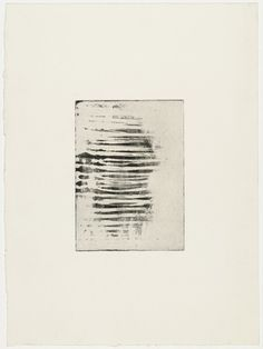 Louise Bourgeois. Horizontal Bands, only state. 1989