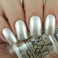 OPI Kitty White swatched by Olivia Jade Nails