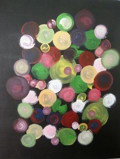Dino Buchmann, Bunte Kreise, 2016, Acryl auf Leinwand, BxH 40x50 cm on ArtStack #dino-buchmann #art Bunt, Painting, Circles, Painting Techniques, Canvas, Photo Illustration, Painting Art, Paintings, Painted Canvas