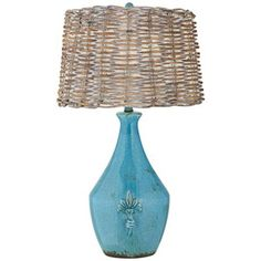 Urban Pottery Turquoise Table Lamp -