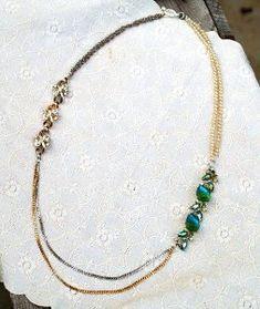 Something Old, Something New Necklace | AllFreeJewelryMaking.com